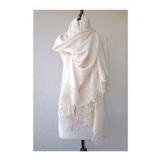 Ivory Wedding Shawl Brides Shrug bridal scarf by BridalLife