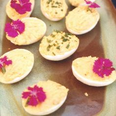 Hickory House Deviled Eggs by Saveur. We add mashed potato to the filling of this traditional hors d'oeuvre.