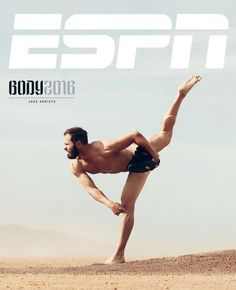 Chicago Cubs P Jake Arrieta on the cover of ESPN's Body Issue.