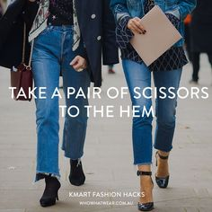 7 Kmart Fashion Hacks That Will Change the Way You Dress Fashion Hacks, Diy Fashion, Fashion Tips, Denim Jeans, Mom Jeans, Skinny Jeans, Hacks Diy, Who What Wear, Cool Outfits