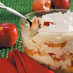 Luscious Apple Trifle - the perfect excuse to break in my fancy new trifle bowl!