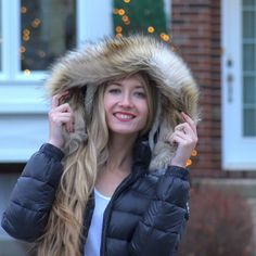 Girlyaddict Emma Verde, Celebs, Celebrities, Belle Photo, Youtubers, Winter Jackets, Hair Beauty, Girly, Fashion Outfits