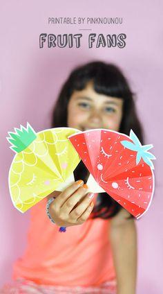 FREEBIE { fruit fans printable } | Pinknounou blog