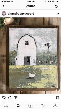 Farmhouse Paintings, Farm Paintings, Paintings I Love, Barn Pictures, Barn Art, Diy Artwork, Encaustic Art, Collage, Painting Inspiration