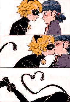 This ship is not okay with me. Chat is NOT in love with Marinette. Marinette is NOT in love with Chat. Adrien/Chat loves Ladybug, and Marinette/Ladybug loves Adrien. This ship is almost as far as you can get from okay. Comics Ladybug, Meraculous Ladybug, Ladybug Anime, Tyler Posey, Lady Bug, Manga Romance, Marinette Et Adrien, Ladybug Und Cat Noir, Catty Noir