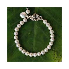 @Overstock - Pearl 'Ode to Friendship' Bracelet (Thailand) - Adorn your wrists in elegance with this braceletHandmade jewelry is inspired by the sweetness of friendshipSilvery freshwater pearls are the perfect accessory to any wardrobe    http://www.overstock.com/Worldstock-Fair-Trade/Pearl-Ode-to-Friendship-Bracelet-Thailand/3254483/product.html?CID=214117  $47.99