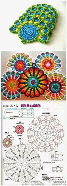 over 1400 free crochet motif Crochet Diy, Mandala Au Crochet, Crochet Motifs, Crochet Diagram, Freeform Crochet, Crochet Chart, Crochet Squares, Love Crochet, Crochet Doilies