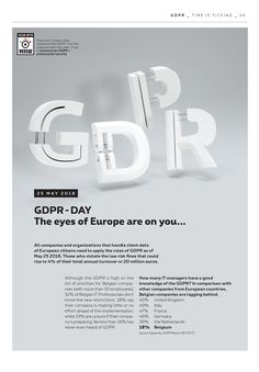 "GDPR / 5G / LoRa 3D typography for Proximus ""One"" Magazine #31"