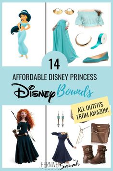 """Disneybounding"" means dressing in Disney inspired outfits for adults - it's basically ""Disney Princess meets Everyday Wear"". This guide will show you 14 different and affordable Disneybounding Outfit ideas! Disney Inspired Dresses, Princess Inspired Outfits, Disney Dress Up, Disney Princess Fashion, Disney Inspired Fashion, Princess Outfits, Disney Fashion, Disney Style, Princess Dresses For Adults"