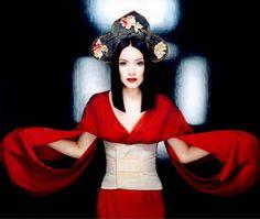 "Madonna in Gaultier's ""Geisha"" collection shot by Demarchelier"