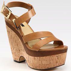 Rachel Zoe Sharon leather wedge platform sandals Saks.com
