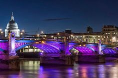 Southwark Bridge and St Paul's.