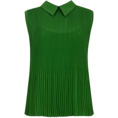 Ted Baker Dantea micro pleated top ($135) ❤ liked on Polyvore