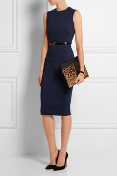 Pretty Navy Sleeveless Pencil Dress