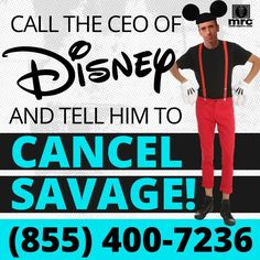 Dan Savage is the country's most notorious anti-Christian bigot and Disney-ABC wants to create a sitcom based on his life! Call Bob Iger and tell him to #CancelSavage!
