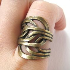 $12.50 Spoon Art Nouveau Inspired Ring - Available in sizes 5 to 7