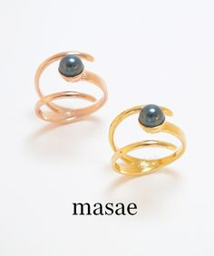 【masae】METAL COLLECTION PEARL WRAP RING #シータ・ミュー