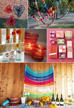 #Yarn #party #decor