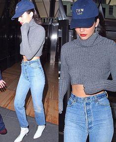 Kendall Jenner, Mom Jeans, Turtle Neck, Closet, Crop Tops, Sweaters, Pants, Instagram, Women