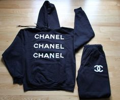 Image of Chanel Sweatsuit [Pre-Order] Dope Outfits, Fashion Outfits, Sporty Outfits, Dope Fashion, Womens Fashion, Passion For Fashion, Lounge Wear, Winter Fashion, Hoodies