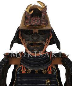 [ Item : Y-16 Kuro-Urushi-Nuri Kiritsuke-Kozene Kon-Ito-Odoshi 2-Mai-Do Gusoku ] Samurai Armor MORISAKI