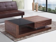 Porto Contemporary Coffee Table with Glass Top Modern Sofa Table, Contemporary Coffee Table, Modern Coffee Tables, Centre Table Living Room, Center Table, Glass Top Coffee Table, Coffee Table With Storage, Table Storage, Luxury Furniture
