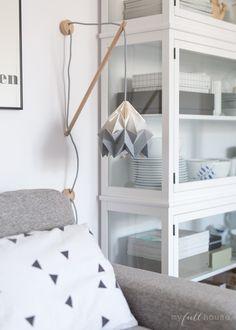 studio snowpuppe gradient moth lamp in grey, klimoppe wall fixture, scandinavian hole
