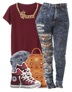 """""""july 20 2k14"""" by xo-beauty ❤ liked on Polyvore featuring Monki, MCM, Converse, women's clothing, women, female, woman, misses and juniors"""