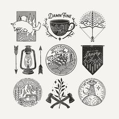 All of these are up for grabs (as well as others on my feed) at a discounted price of 80 each. Would love to see them get put to use so give me a shout if you're interested by liamashurst Wilderness Tattoo, Digital Paper Freebie, American Logo, Floral Thigh Tattoos, Stippling Art, Graphic Design Illustration, Illustration Art, Tattoo Project, Bullet Journal Art