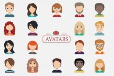 Set of avatars. Characters for web. by VectorMarket on Creative Market
