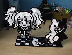 Hama gifts: Monokuma y Enoshima Junko (Dangan ronpa) perler