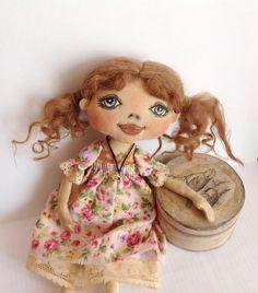 Cloth doll-Cloth art doll-Art doll-OOAK doll-Textile dolls-Collecting doll-Stuffed doll-Fabric doll-Soft doll-Doll-Rag doll-Cotton doll