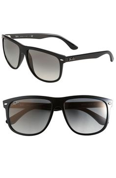 63c34add07c Polarized lens are the best with these wonderful oversized sunglasses  Ray-Ban  Boyfriend Flat Top Frame  Sunglasses available at