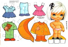 Recortables de muñecas / Paper dolls 2 - Manualidades a Raudales