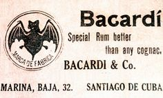Bacardi rum advertisement from 1902 comparing BACARDI rum to the finest Cognacs of the time
