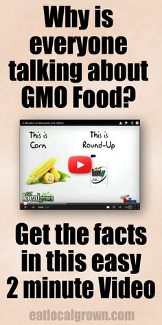 Easy to understand 2 minute #GMO video. Great for sharing with family and friends.