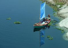 blue sail, blue water by joiseyshowaa, via Flickr