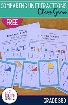 This is an engaging way for your 3rd graders to compare unit fractions! Make it a game and they'll have fun while learning.Students will compare unit fractions 1/1 to 1/12. I've included instructions on how to play the Heads Up game.There are 2 printables included to help reinforce these skills.|Math|Fractions|Unit Fractions|