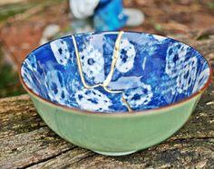 TAZON KINTSUGI, cuenco Kintsugi porcelana oriental. Kintsugi, Serving Bowls, Tableware, Porcelain Ceramics, Dinnerware, Tablewares, Place Settings, Bowls