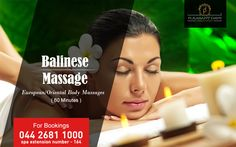 Relax those tired senses and indulge in the blissful moments of Balinese Massage at Pleasant Days  www.pleasantdays.in | info@pleasantdays.in | 044 2681 1000  #PleasantDays #Hotels #Food #Resort #India #Travel #Holiday #Restaurant #Hotel #Spa #Massage #BalineseMassage