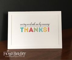 Big Meaning Thanks - Stampin Up - Just Spiffing by Fiona Bradley