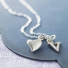 silver initial charm necklace by lily charmed | notonthehighstreet.com