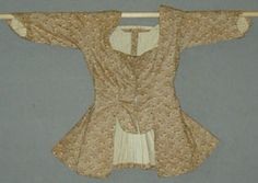Late 18th century Caracao in cotton with stomchers front