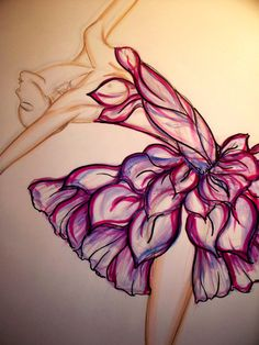 Ballerina tutu Illustration Original Drawing by Illustrator Sonia Stella, $33.00 come to the Etsy shop to order a signed print