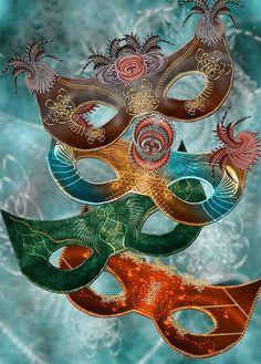 Masques -Carnaval de Venise  Un temps pour avancer masqué, un temps pour tomber le masque