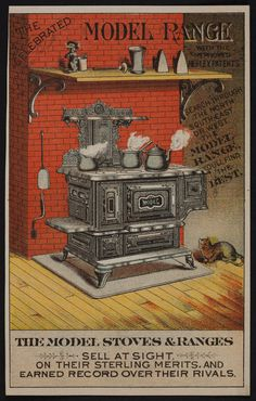 Trade card for The Model Stoves & Ranges, location unknown, undated | Historic New England