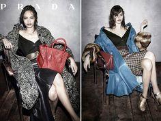 Malaika Firth and Freja Beha Erichsen Prada Fall 2013 Ad Campaign