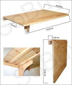 9 best wall mounted table images foldable table arredamento desk rh pinterest com