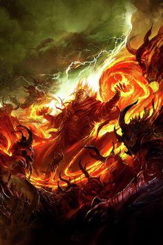 kekai kotaki - Elminster Sage of Shadowdale novel covers I did,. Fantasy Demon, Fantasy Wizard, Demon Art, High Fantasy, Medieval Fantasy, Fantasy World, 3d Design, Science Fiction, Dark Souls Art