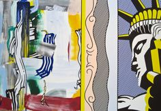 Lichtenstein, Painting with Statue of Liberty — Fotopedia